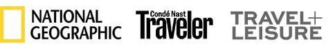 National Geographic, Condé Nast Traveler, Travel + Leisure